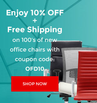 Enjoy 10% Off and Free Shipping on 100's of new office chairs with coupon code: OFD10