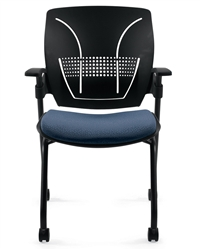 Global Total Office Roma Black Nesting Chair With